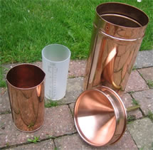 copper rain gauge