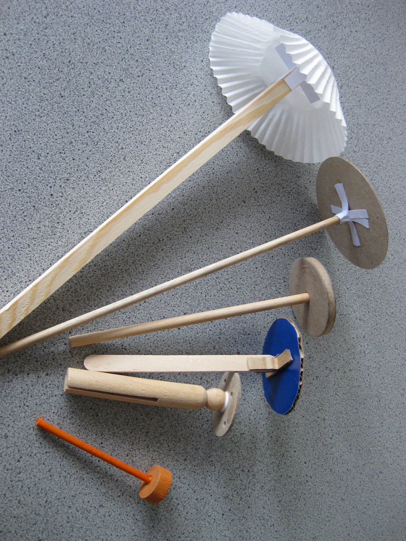 examples of finished sticks