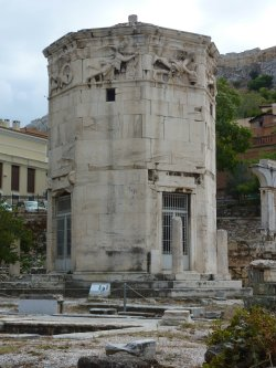 The tower of the winds in Athens