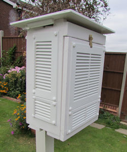 weather box with horizontal vents