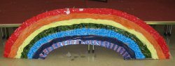 a rainbow made by children