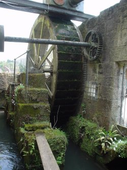 a very old water wheel