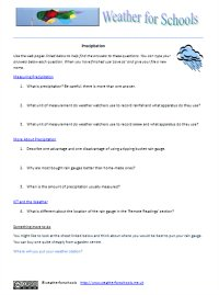 precipitation webquest